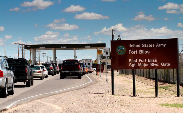 De Amerikaanse legerbasis Fort Bliss in Texas.