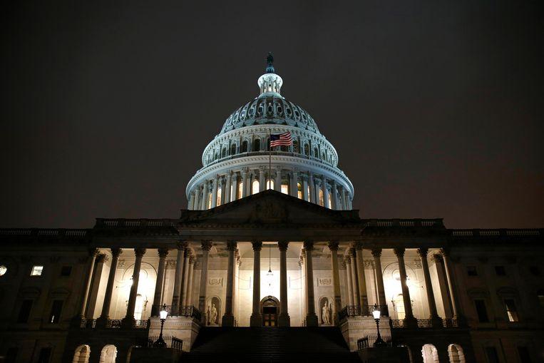 Het Capitool in Washington DC, waar zowel het Huis van Afgevaardigden als de Senaat zetelen. Beeld AP