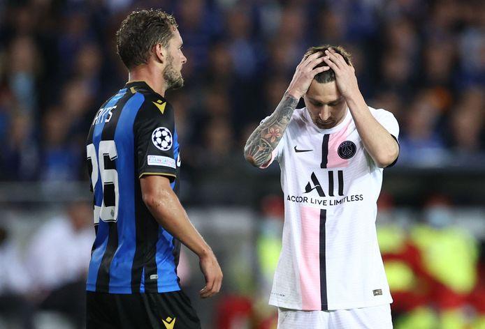 Lionel Messi baalt.