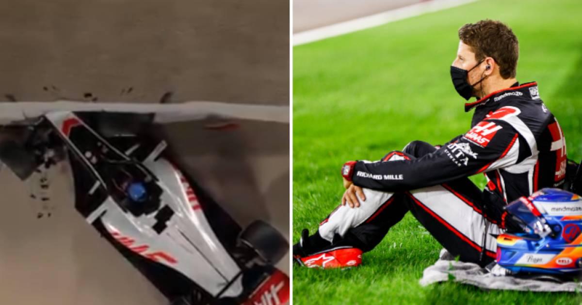 Animatie: zo overleefde Romain Grosjean horrorcrash   Formule 1 - AD.nl
