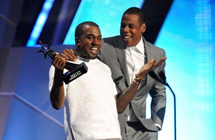 Kanye West en Jay-Z in hun succesjaren.
