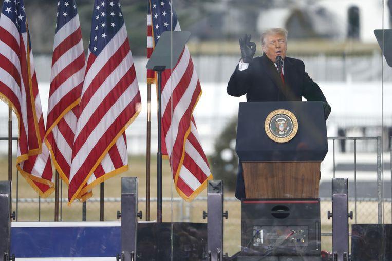 Trump hoopt ook na zijn vertrek uit het Witte Huis de greep op de partij te houden. Beeld European Press Agency (EPA)