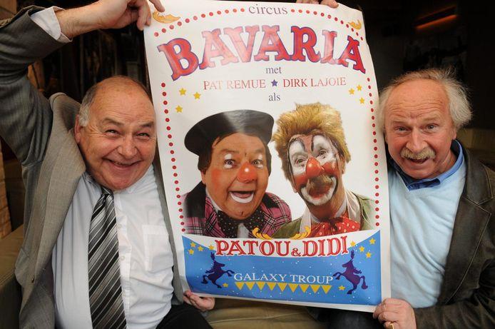 Pat Remue (links) speelde enkele jaren geleden mee in circus Bavaria met Dirk Lajoie.