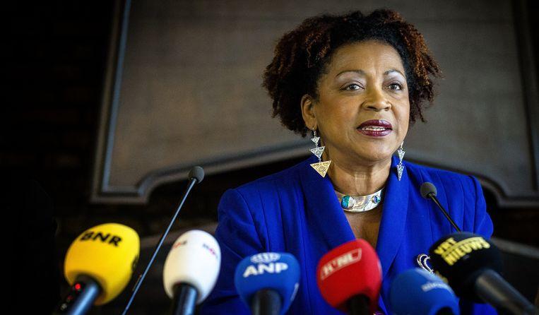 VN-functionaris Verene Shepherd: 'Discriminatie'. Dat een comité tegen rassendiscriminatie van de Verenigde Naties onderzoek in Nederland deed, heeft er zeker aan bijgedragen dat schoolbesturen en gemeenten nu richtlijnen durven op te stellen over de figuur van Zwarte Piet. Beeld anp