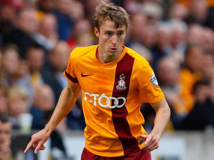 Stephen Darby in het shirt van Bradford City.