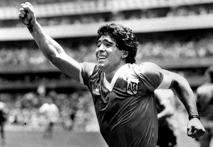 Maradona op het WK 1986.