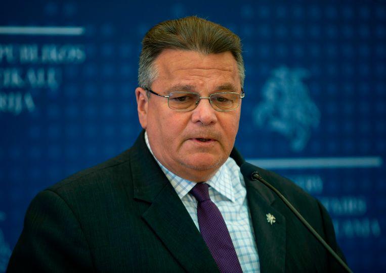 Linas Linkevicius. De Litouwse minister van Buitenlandse Zaken bood oppositieleider Tichanovskaja onderdak. Beeld AFP