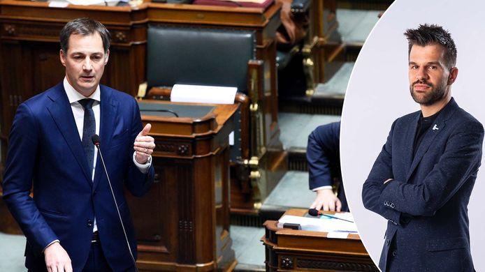Links: premier Alexander De Croo, rechts: werkexpert Stijn Baert.