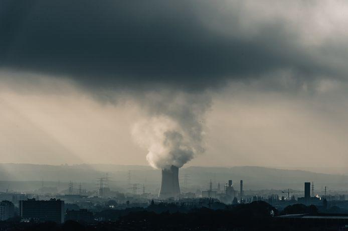 La centrale au gaz d'Electrabel à Drogenbos.