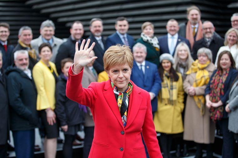 De Schotse premier Nicola Sturgeon. Beeld EPA