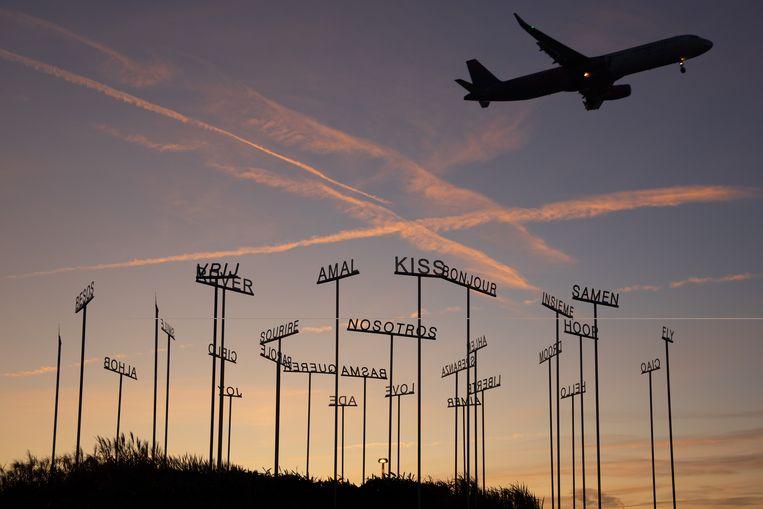 Meer dan 35 miljoen passagiers passeerden langs een luchthaven in ons land. Een record. Beeld Photo News