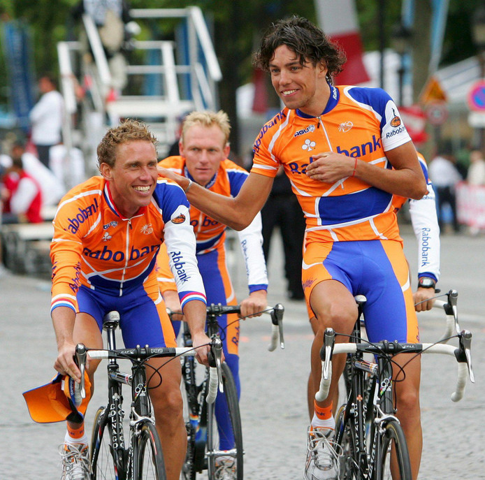 Michael Boogerd en Thomas Dekker in 2007.