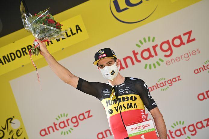 Van Aert kreeg de prijs voor de strijdlust.