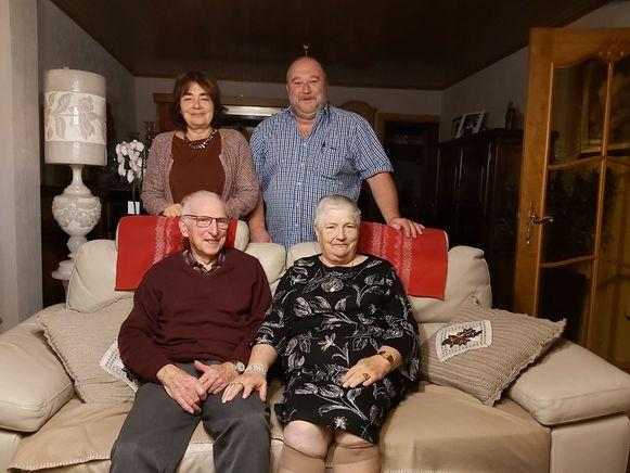 Roger Collin en Gilberte Moens vierden hun 60ste huwelijksverjaardag