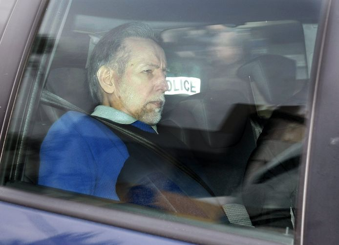Seriemoordenaar Michel Fourniret tijdens zijn proces in 2008.
