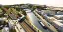 Een 3D-beeld uit 2014, toen werden de eerste plannen voor de Zuidbrug voorgesteld.