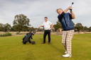 Golfers in actie op golfbaan Bernardus in Crmvoirt.
