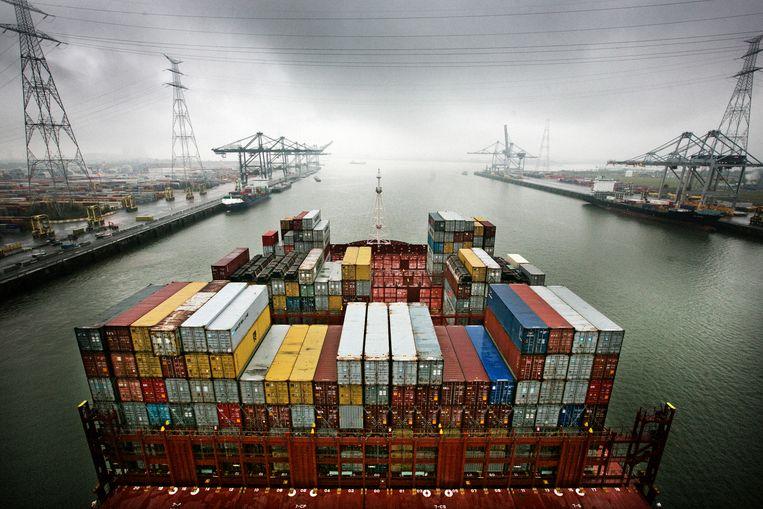 De haven van Antwerpen Beeld Tim Dirven