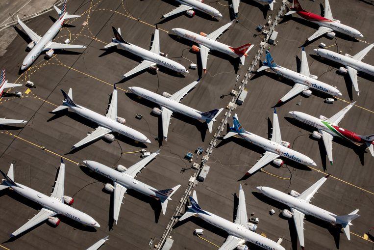 Boeing 737 Max-vliegtuigen. Beeld EPA