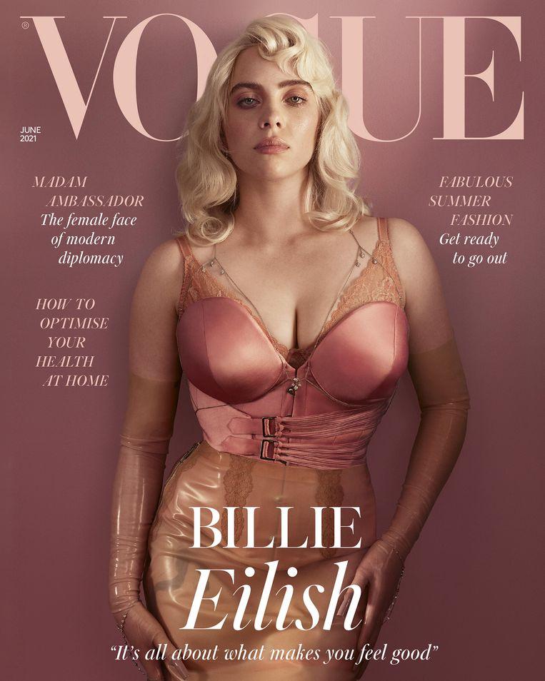 Billie Eilish op de cover van 'Vogue'. Beeld Vogue