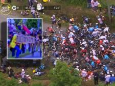 Politie pakt vrouw die megacrash veroorzaakte in Tour de France op