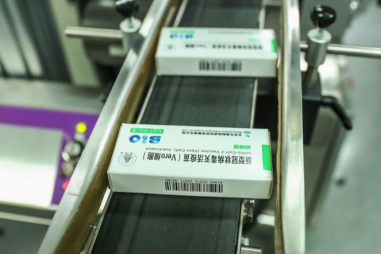 Productie van het Sinopharm-vaccin in Peking Beeld AP