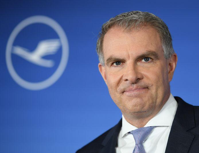 Carsten Spohr, CEO van Lufthansa, het Duitse moederbedrijf van Brussels Airlines.