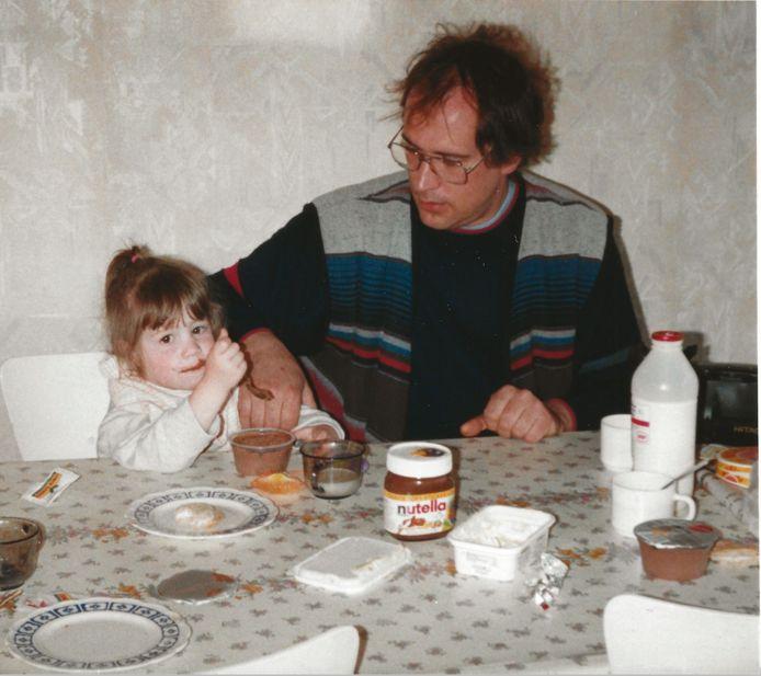 Davina met haar papa.