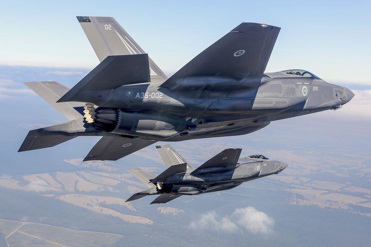 Twee Lockheed Martin Corp F-35 straaljagers.