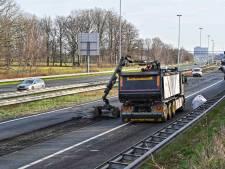 Delen A27 en A58 dit weekend dicht door herstelwerkzaamheden na vorst