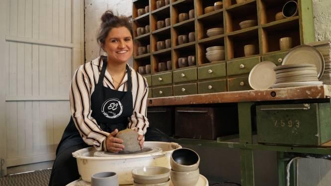 """Elise vond tweede roeping als pottenbakker in 2020: """"Ik ben dag en nacht bezig met mijn potjes"""""""