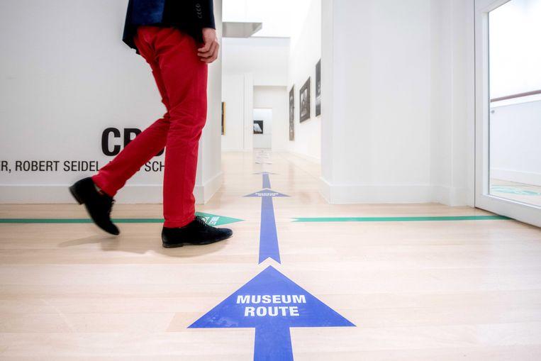Looproute in museum De Fundatie in Zwolle. Beeld EPA