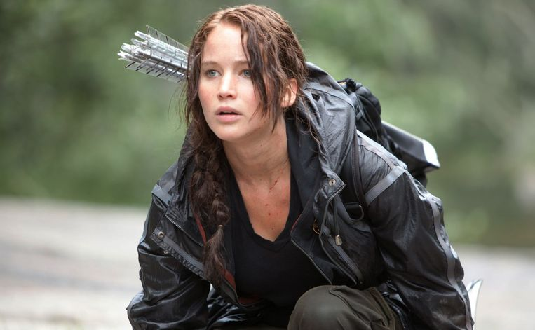 Jennifer Lawrence in The Hunger Games (2012). Beeld