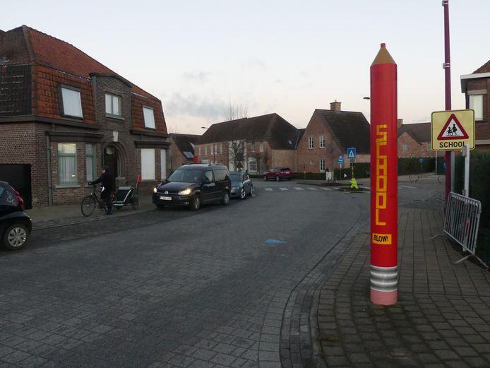 De Nieuwstraat in Astene wordt een fietsstraat.