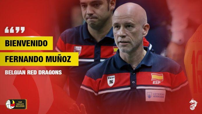 Fernando Muñoz toen hij aangesteld werd als bondscoach.