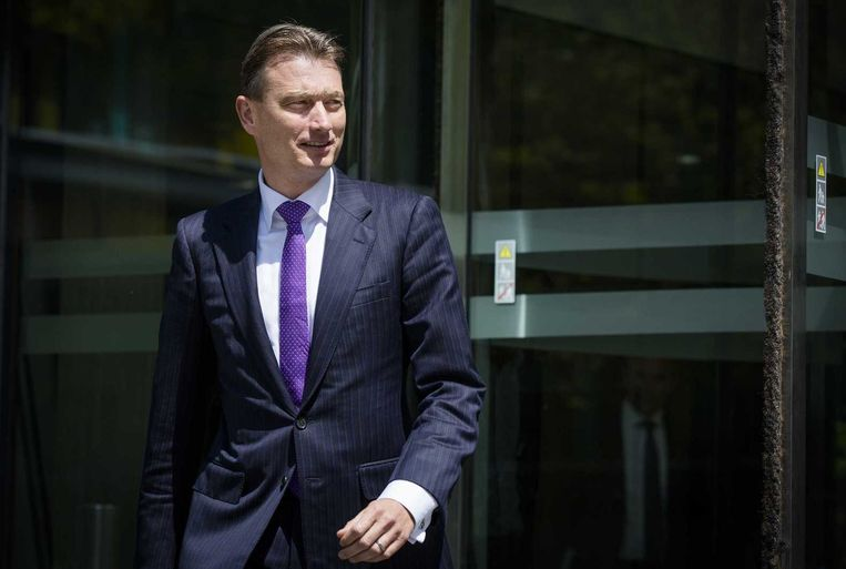 Halbe Zijlstra (VVD) verlaat het ministerie van financiën nadat het kabinet en de coalitie begin deze week een akkoord bereikten over de herziening van het belastingstelsel. Beeld anp