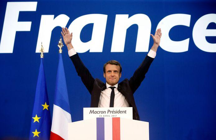 Emmanuel Macron won zondag de eerste ronde van de Franse presidentsverkiezingen.