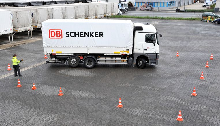 DB Schenker is de logistieke tak van de de Deutsche Bahn.  Beeld AFP