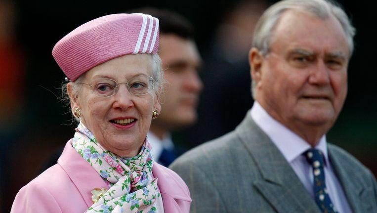 Koningin Margrethe en prins Henrik. Beeld epa