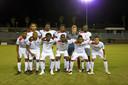 Nationaal elftal Sint Maarten, met doelman Sjoerd van Griensven.