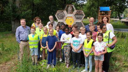 Kinderen 't Spoor openen bijenhotel aan Bels lijntje