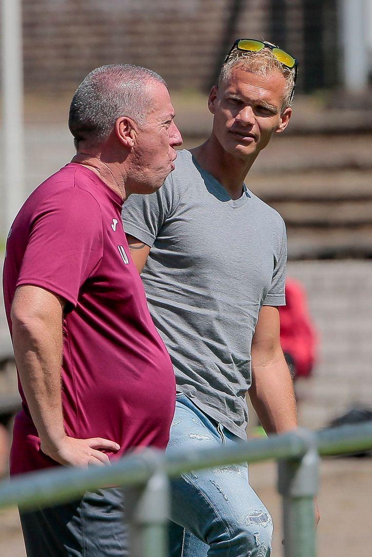 Geraerts met Luc Devroe in Wageningen. Beeld photo_news