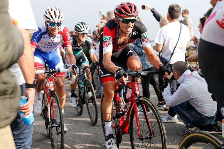 Dylan Teuns vorig jaar in de Ronde van Lombardije.
