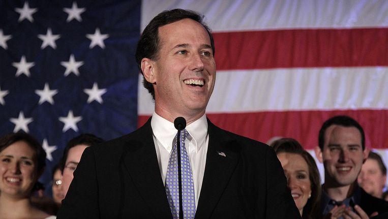 Rick Santorum begin april. Beeld AP