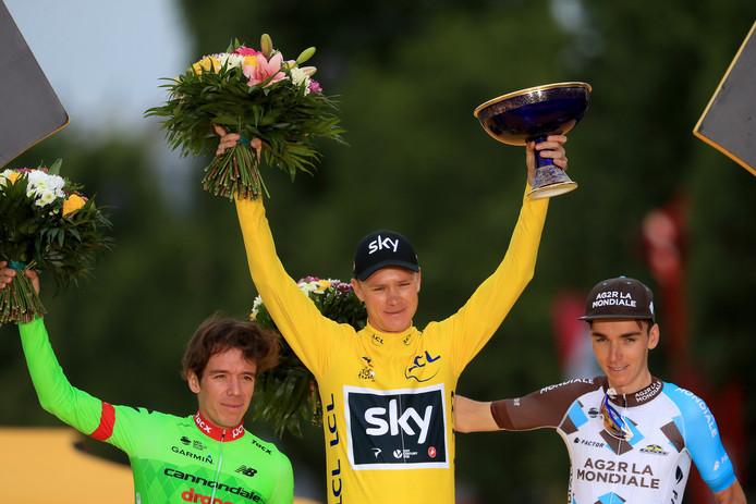 Battu par son coéquipier Geraint Thomas en 2018 et forfait en 2019, Chris Froome n'a plus paradé en jaune sur les Champs Élysées depuis juillet 2017.