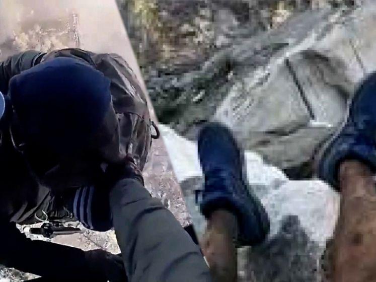Verdwaalde hiker neemt foto van zijn benen en wordt teruggevonden