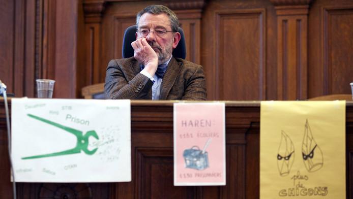 Luc Hennart, le président du tribunal de première instance de Bruxelles a affirmé sa position contre le projet de construction de cette prison, lors d'une conférence de presse au palais de justice de Bruxelles.