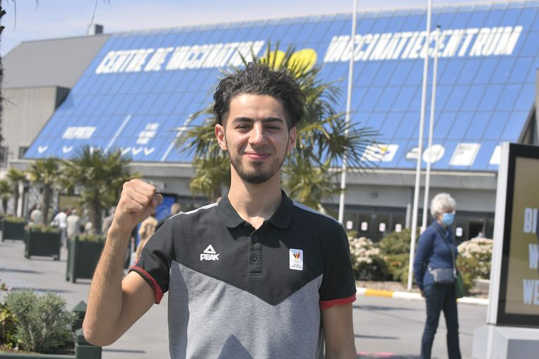 Jaouad Achab (Taekwondo). Beeld BELGA