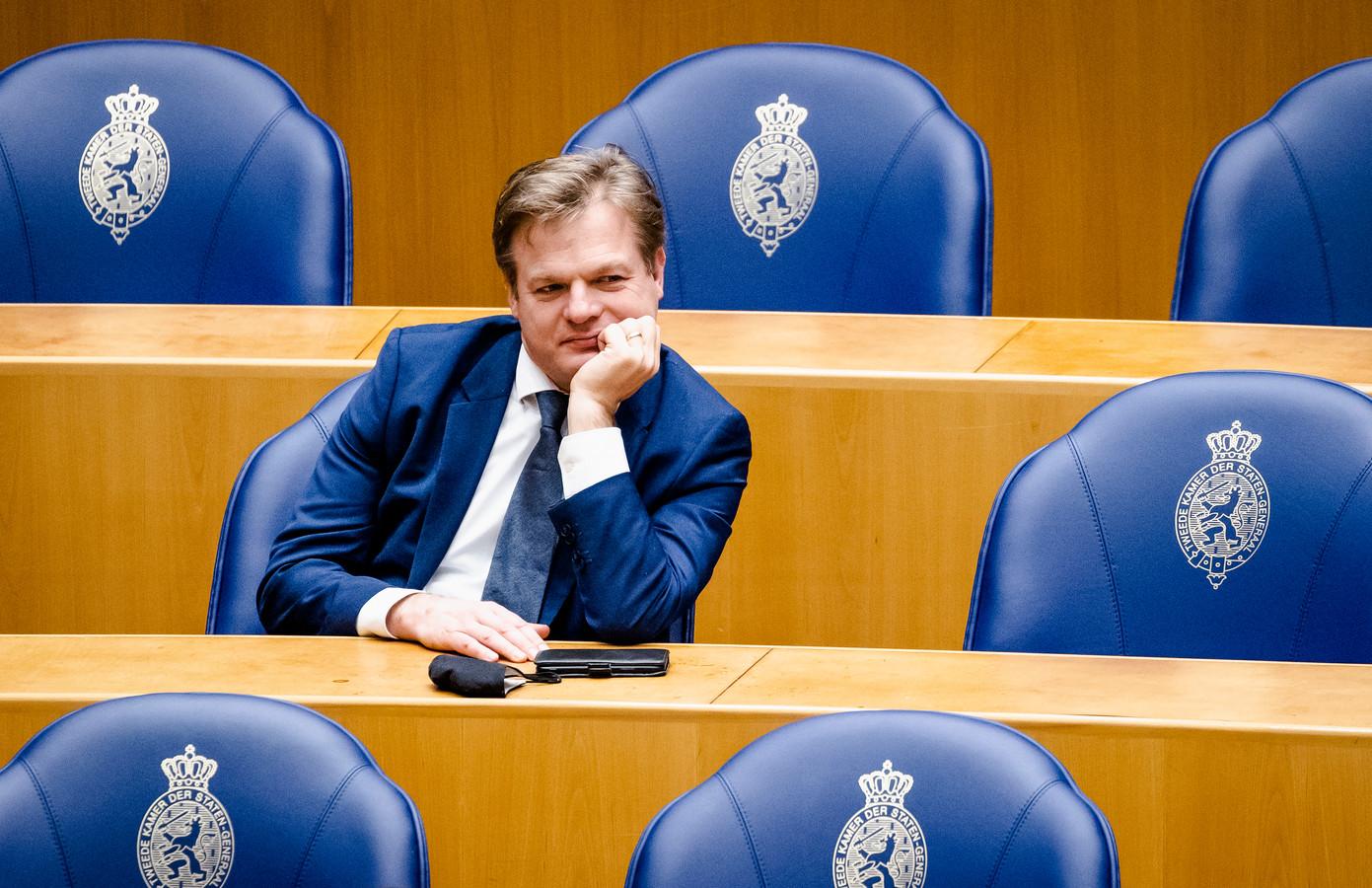Pieter Omtzigt tijdens het wekelijks vragenuur in de Tweede Kamer.