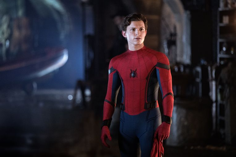 De Britse acteur Tom Holland als Spider-Man. Beeld